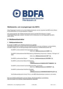 BDFA Wettbewerbs- und Juryregelungen Stand März 2020